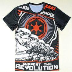 Star Wars T-Shirt Revolution Star Wars merchandise http://funstarwars.com/shop/star-wars-t-shirts/star-wars-t-shirt-revolution/ 19.65 All T Shirts are 3D Pritned, colorful and bright.