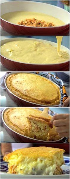 Torta Rápida de Frango | Além de rápida e fácil, é DELICIOSA! (veja a receita passo a passo) #torta #frango #tortadefrango #tastemade