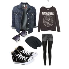 Punk rock / classic rock , the ramones inspired outfit. Love it.