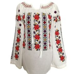 Folk Embroidery, Costumes, Blouse, Long Sleeve, Floral, Sleeves, Patterns, Women, Fashion