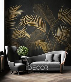 Accent Walls In Living Room, Accent Wall Bedroom, Bedroom Decor, Wall Decor, Poster Mural, Mural Wall Art, Painted Feature Wall, Pinterest Room Decor, Wallpaper Decor