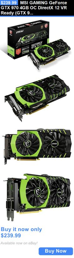 computer parts: Msi Gaming Geforce Gtx 970 4Gb Oc Directx 12 Vr Ready (Gtx 970 Gaming 100Me) BUY IT NOW ONLY: $239.99