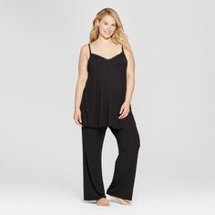 8a22d3896 Maternity Plus Size Drop Cup Nursing Cami and Pants Pajama Set - Isabel  Maternity by Ingrid   Isabel™