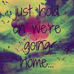just hold on we're going home...drake