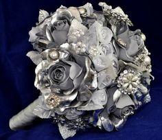 Pewter brooch wedding bouquet!