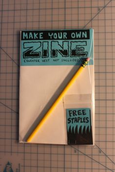 I dream of this being a mandatory project for every student on Earth.  Make Your Own Zine kit. $1.50 by Friend Prices #zine #art #make #diy #etsy