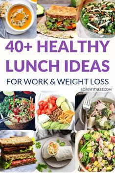 40 healthy lunch ideas for weight loss while at work - healthy salads wraps sandwiches soups and more! 40 healthy lunch ideas for weight loss while at work - healthy salads wraps sandwiches soups and more! Healthy Recipes For Weight Loss, Clean Eating Recipes, Healthy Weight, Lunch Recipes, Healthy Dinner Recipes, Healthy Snacks, Healthy Eating, Smoothie Recipes, Salad Recipes