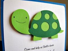 Turtle Party  Invitation  Tommy by ScrapYourStory on Etsy, $2.50