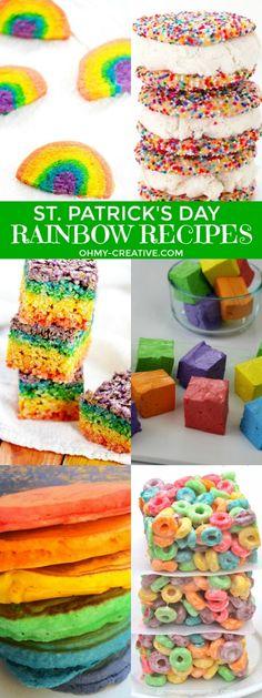 Rad Rainbow Recipes! Fun for Rainbow Party Themes or St. Patrick's Day