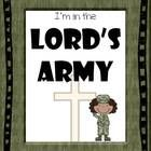 Your students will want to enlist as you learn about the Lord's Army. This is a Biblical unit with a military theme and would be great for use in Sunday School, Vacation Bible School or Homeschool. It includes the lesson plan idea pages,Cl