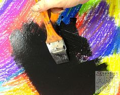 Black Scratch Off Paper-->Color a piece of paper completely with crayon (no white spaces.) Then paint over the crayon with black tempera paint. Use a BBQ Skewer or finger nail to scrape off the black paint and create art! (I loved these when I was a kid!)