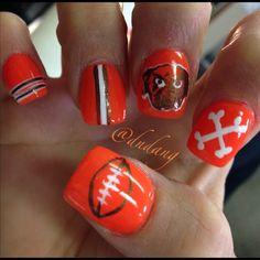 e8d5de934b3 Cleveland Browns by dndang  nail  nails  nailart Brown Nails