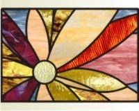 Radial abstract flower radial abstract flower stained glass pattern   PDQ Patterns