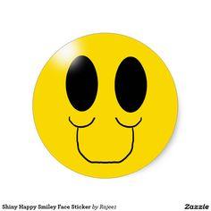 Shiny Happy Smiley Face Sticker