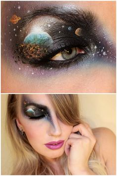 truebluemeandyou:  DIY Inspiration: Galaxy or End of the World Makeup from Sandra Holmbom here. For more of Sandra Holmbom's FX makeup that I've posted go here: halloweencrafts.tumblr.com/tagged/psychosandra and for more galaxy DIYs go here: truebluemeandyou.tumblr.com/tagged/galaxy