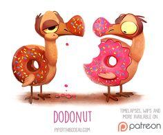 Daily+Paint+1521.+Dodonut+by+Cryptid-Creations.deviantart.com+on+@DeviantArt