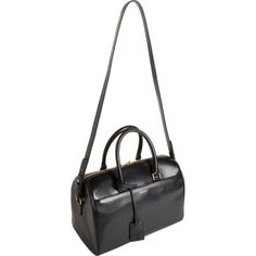 Saint Laurent Classic 6 Hour Duffel ($799) ❤ liked on Polyvore featuring bags, luggage, black bag and bolsas