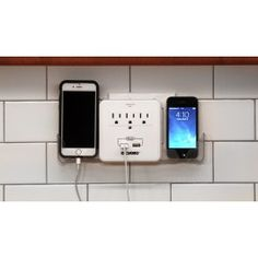A charging station is a great way to organize your tech gadgets, as well as keep messy cords out of reach to the kids. Buy at BulbHead.com!