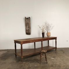 french 19 th oak draper table - Espace Nord Ouest Decoration, French Antiques, Entryway Tables, Nice, Furniture, Home Decor, Objects, Decor, Decoration Home