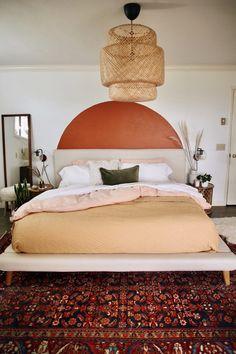 Peach Bedroom, Cozy Bedroom, Diy Bedroom Decor, Home Decor, Bedroom Ideas, Bedroom Inspo, Kids Bedroom, One Bed, Bohemian House