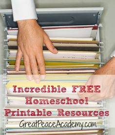 Tons of Free Homeschool Printables organized by category.