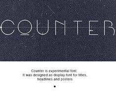 Counter font