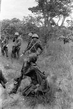 Angola, Photograph by Ernesto Fernandez Nogueras. Cuban soldiers in Angola.
