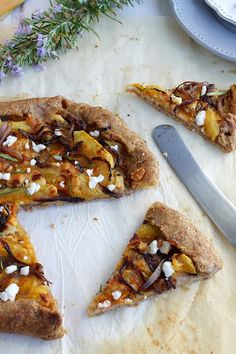 Squash galette with a delicious rye crust