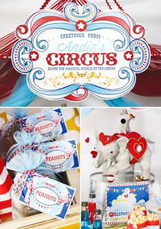 {Magical & Nostalgic} Circus Birthday Party- Great link to company who does great printable stuff