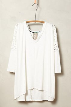 banded lace v-neck tee #anthrofave