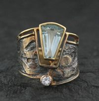 Marne Ryan Designs - Brazilian Aquamarine and Diamond Ring (=)