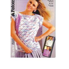 9c098ee308dad1 Knitting Pattern - Original Patons 8701 - Teens Lady s Brushed Chunky Top 30-42