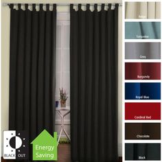 Tab Top Thermal Insulated 95-inch Blackout Curtain Panel Pair | Overstock™ Shopping - Great Deals on Curtains
