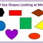 """This engaging activity includes two black and white books in the simple repeating format of """"What do you see.....I see_____looking at me."""" It is aligned to Common Core Standards for Geometry for two dimensional shapes in Kindergarten.There is a 10 page book for the class to make, plus half sheet pages for student books."""