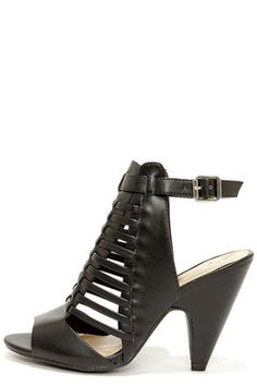 promo code 5c593 cec2d Black Caged Shootie Heels. In love. Shoes Heels Boots, Hot Shoes, Heeled