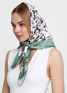 Head Scarf Tying, Head And Neck, Neck Scarves, Scarf Styles, Womens Scarves, Classic Style, Beautiful Women, Silk, Etsy