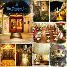 THE MISSION INN - Riverside California For more than 125 years the Mission Inn has been the social center of Riverside, California. I spent 3 DREAMY nights there in Aug 2014!! Template: My Arty Pockets1 by Heartstrings Scrap Art Papers: Boo Land Designs: One Page Wonders 6, One Page Wonders 36, One Page Wonders 39.