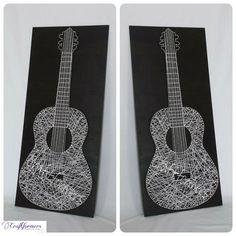 Handmade Guitar String Art by Craftformers on Etsy