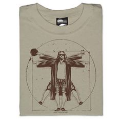 Vitruvian Man: The Dude, The Big Lebowski O Grande Lebowski, El Gran Lebowski, The Big Lebowski, Dudeism, Non Plus Ultra, Movie T Shirts, Geek Out, Pin Up, Small Tattoos