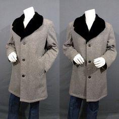NEW!!! 60's Mens Pendleton Wool Coat Mens Car Coat by ...
