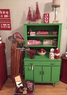 Antibes Green Chalk Paint hutch