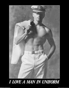 men in uniform or w/out    Barbara Burks-Hallinan via Lisa Brown onto ♫ Every girl's crazy bout a sharp dressed man...preppy biffs