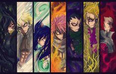 Fairy Tail - Rogue, Sting, Natsu, Gajeel, Laxus, Cobra and Wendy - Dragon Slayer. THIS IS SOOOOOOOOOOO AWESOME