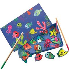 Old fashioned retro fishing game at Papillon - Djeco Coloured Fishing Game, £12.75 (http://www.papilloninteriors.co.uk/djeco-coloured-fishing-game/)