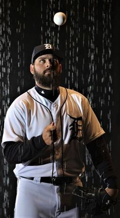 2018 Detroit Tigers spring training - Tigers pitcher Michael Fulmer posed for a Fox Sports Detroit production during spring training workouts February 17, 2018