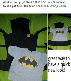 Great idea! Super easy Tula slipcover. 5t shirt.