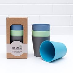 Bobo&Boo Bamboo Kids Cups Set of 4 Drinking Cups for Kids, Eco Friendly Toddler Cups Without Lids ~ Non Toxic & Reusable ~ Great Gift for Baby Showers, Birthdays & Preschool Graduations, Coastal Eco Kids, Eco Baby, Preschool Graduation, Recycling, Sustainable Living, Sustainable Products, Sustainable Gifts, Living At Home, Green Life