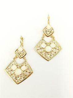 La Bella Donna - Γυναικεια statement σκουλαρίκια-Λευκο Silver Earrings, Dangle Earrings, Dangles, Jewelry, Fashion, Moda, Jewlery, Jewerly, Fashion Styles