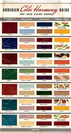 kroehler mid century ranch paint colors