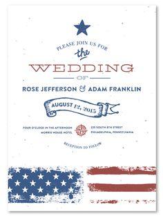 patriotic wedding invitations | weddings, Wedding invitations